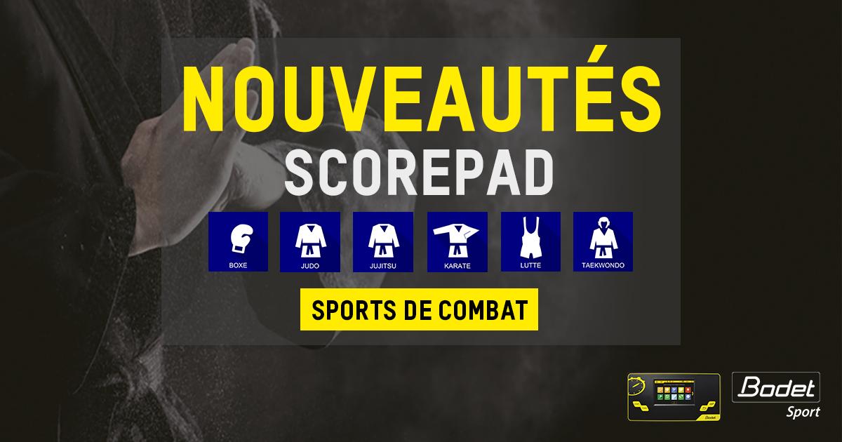 Scorepad Sports Combat Nouveauté FR
