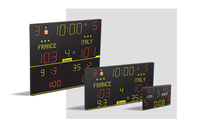 Choose a Bodet Sport scoreboard