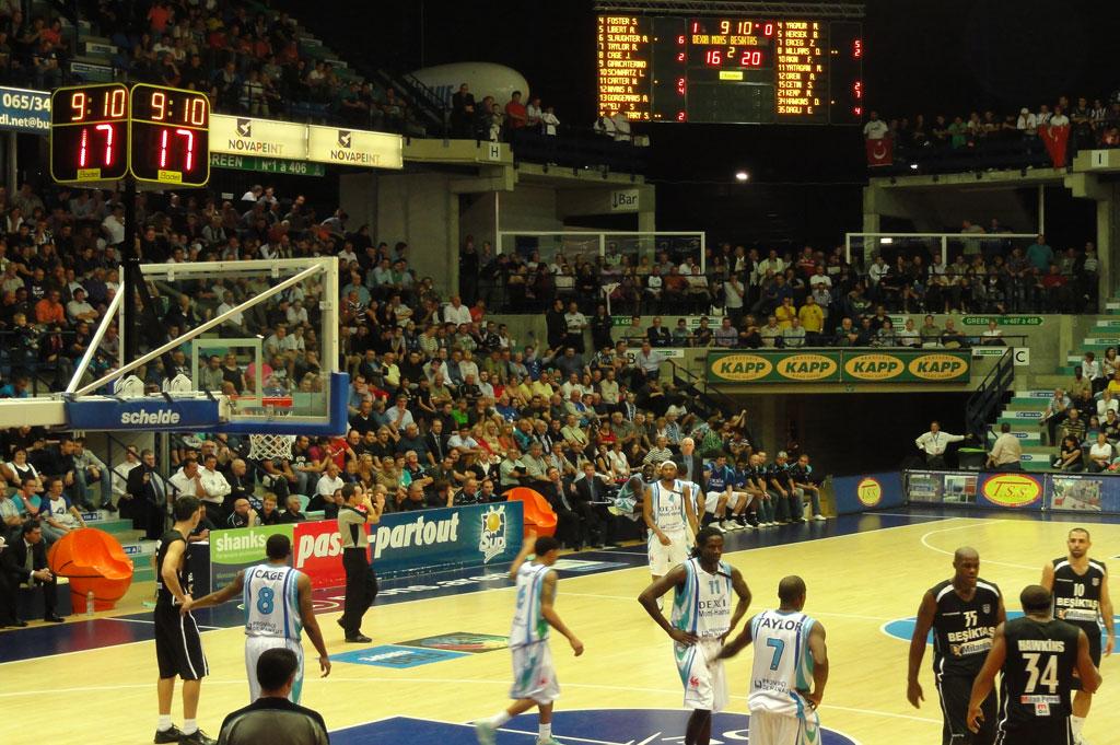 basketball anzeigetafeln arenen hennegau belgien 3