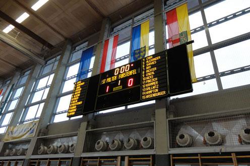 basketball anzeigetafeln sportzentrum osterreich