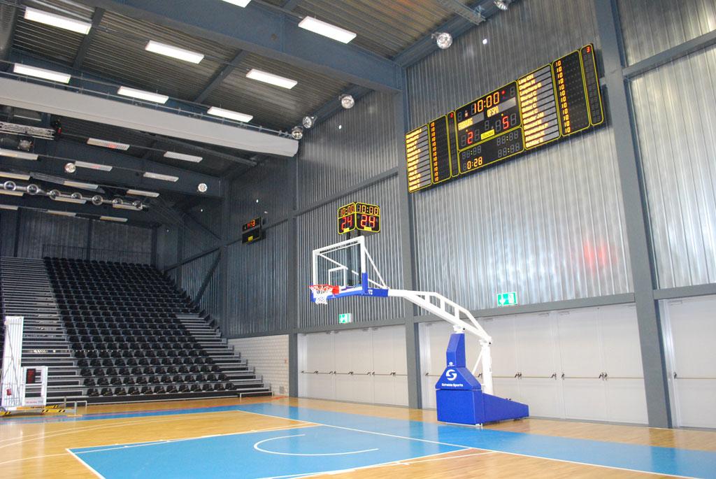 basketball anzeigetafeln switzerland st leonhard mehrsporthalle 1