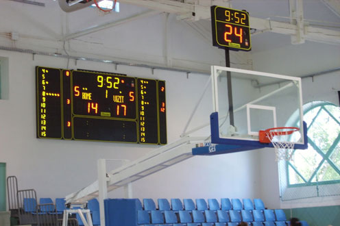 basketball anzeigetafeln rumanien dr pongracz anto sporthalle 4