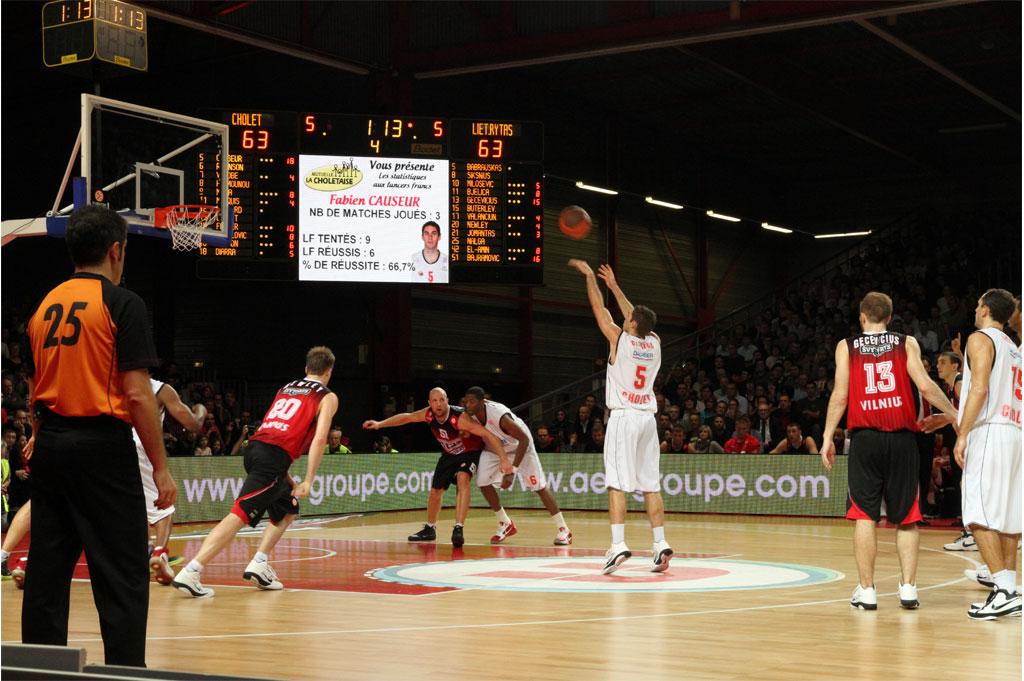 sportanzeigetafel basketball la meilleraie cholet 3
