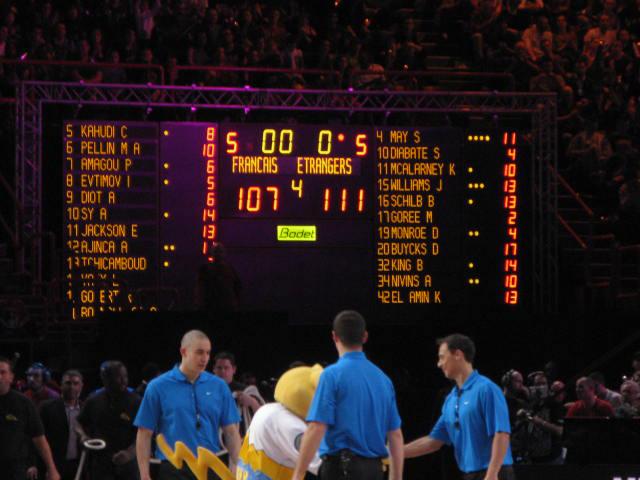 basketball anzeigetafeln all star game lnb 1
