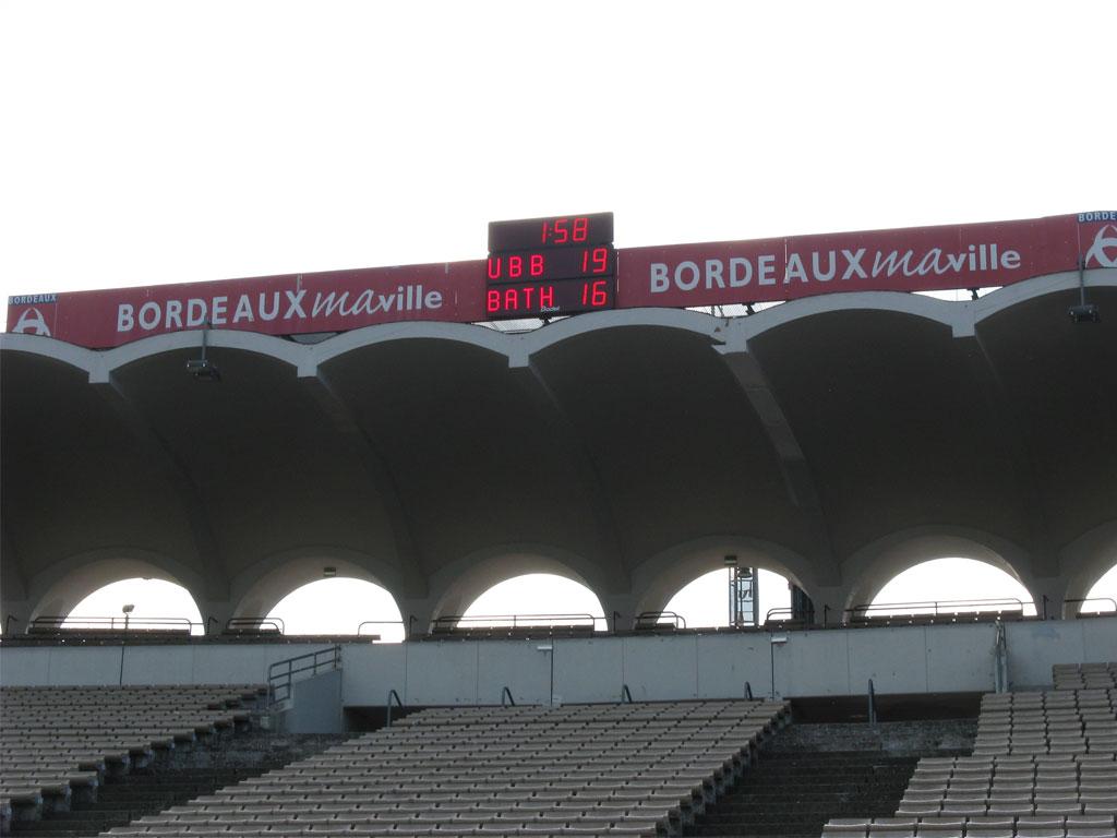 fussball sportanzeigetafel bordeaux stadion chaban delmas bt2045 alpha 2