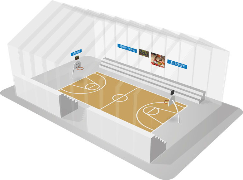 Scoreboards And Led Video Display Solutions For Gymnasium