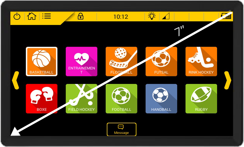 selection sports screen