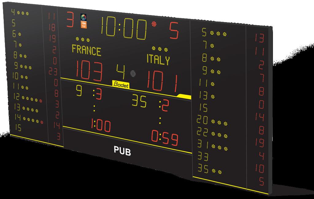 Bodet - Marcadores deportivos Baloncesto - 8NT325 FS10 Alpha