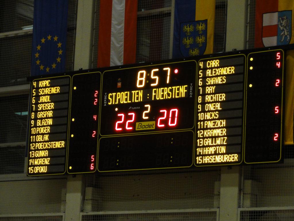 Bodet - Marcadores de baloncesto del Sport Zentrum Niederösterreich, Austria-1