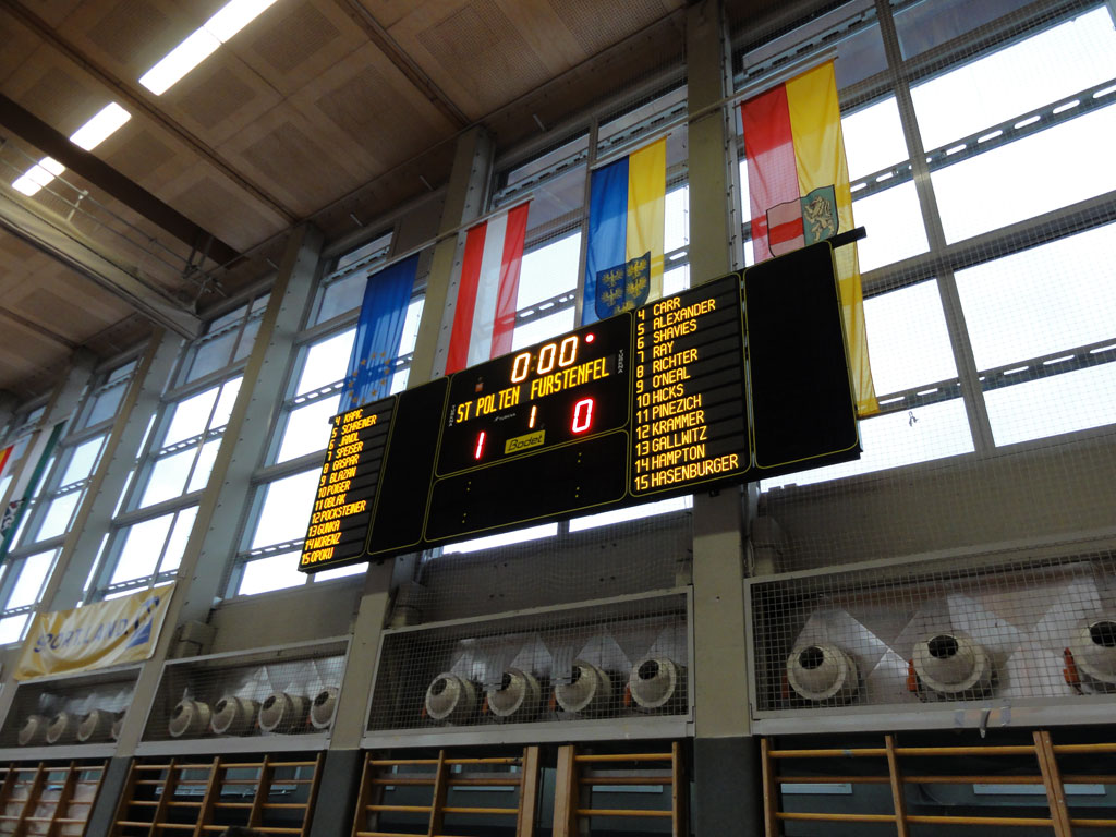 Bodet - Marcadores de baloncesto del Sport Zentrum Niederösterreich, Austria-2
