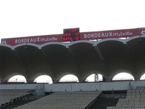 Bodet - Marcadores de fútbol del Estadio Chaban Delmas, Francia-2