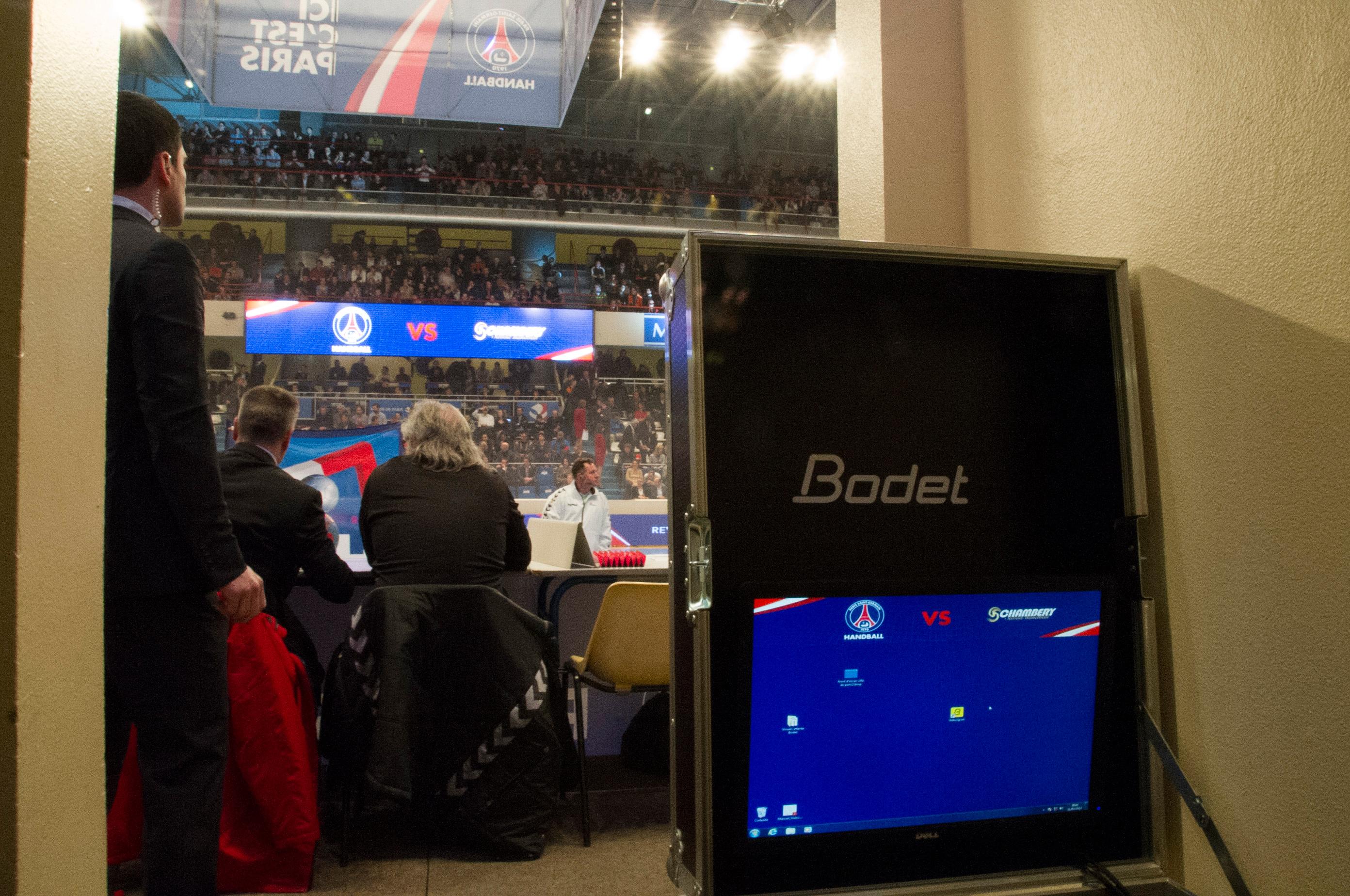Bodet - Marcadores de baloncesto y balonmano - Estadio Pierre de Coubertin - París-2