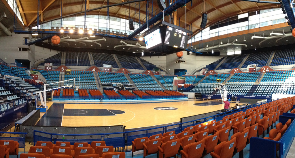 Bodet – Pantallas de vídeo y marcadores del baloncesto del Palacio de Deportes de Pau-3