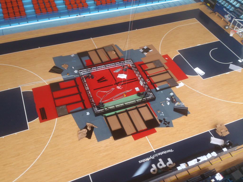 Bodet – Pantallas de vídeo y marcadores del baloncesto del Palacio de Deportes de Pau