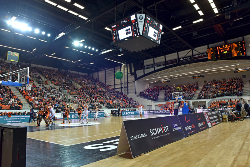 Palais Sports Bourges Cube video LED