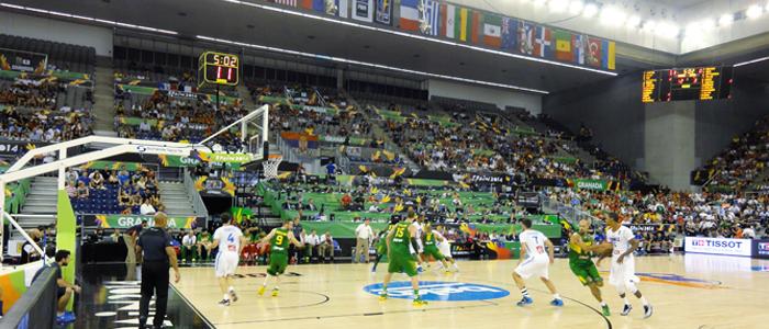 Bodet Marcadores deportivos Palacio Municipal Deportes Granada FIBA 2014
