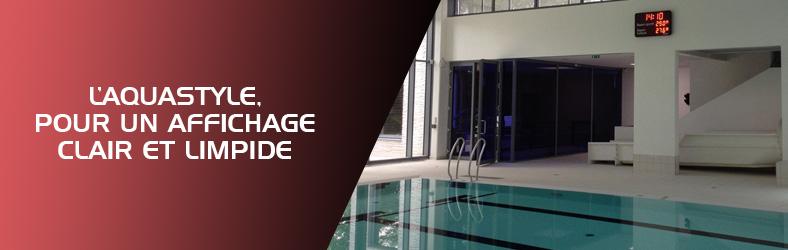 Banniere afichage piscine