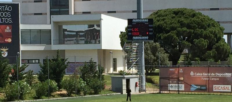 Bodet scoreboard for Benfica Lisbon