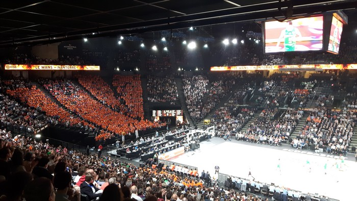 accorhotels arena affichage video basketball