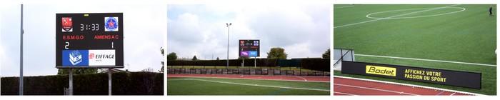 gonfreville installation ecran video led football