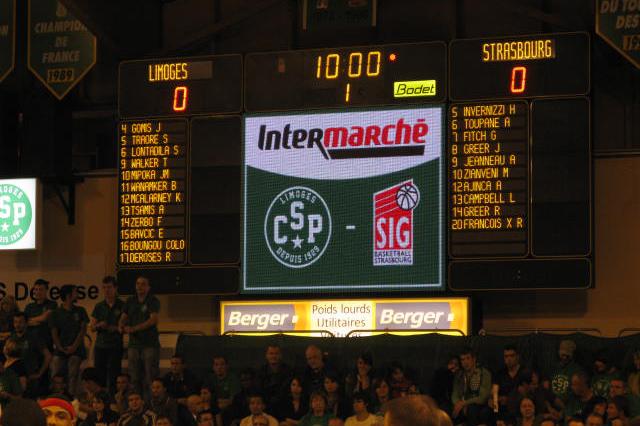 Arena Le Portel tableau scores Bodet