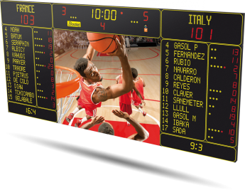 Bodet - Basketball Scoreboard - BT6730 Video 12M 12P H15